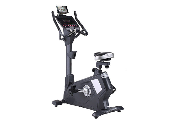 Commercial Gym Stationary Upright Exercise Bike Black Magnetic Resistance